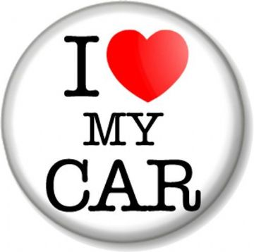 I Love / Heart my CAR Pinback Button Badge Motor Lover Vehicle Automobile